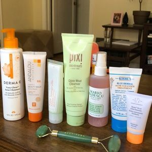 Multiple skincare products